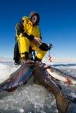 Éxito de la pesca fotografía de archivo