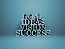 Éxito de la visión de las ideas de la meta Foto de archivo libre de regalías