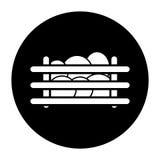 Éxito del icono en granjas del huevo Fotografía de archivo libre de regalías