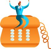 Éxito del teléfono ilustración del vector