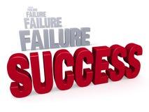 Éxito después del fracaso Imagen de archivo libre de regalías