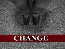 Éxito empresarial con el cambio Imagen de archivo