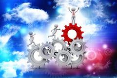 Éxito empresarial, concepto de la red del negocio representación 3d ilustración del vector