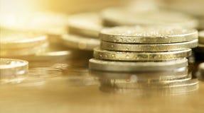 Éxito empresarial - monedas del dinero Fotos de archivo