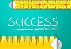 Éxito empresarial y logro de medición stock de ilustración