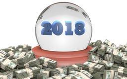 Éxito empresarial 2018 y prosperidad Imagen de archivo libre de regalías