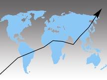 Éxito en el mundo ilustración del vector