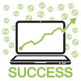 éxito en línea del negocio Imagen de archivo libre de regalías