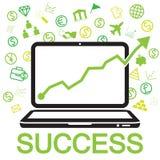 éxito en línea del negocio Imágenes de archivo libres de regalías