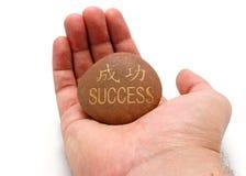 Éxito en la palma de la mano Imagen de archivo