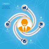 Éxito en negocio. Plantilla del gráfico de la información. imagenes de archivo