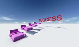 Éxito esta manera Imagen de archivo
