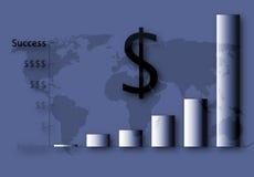 Éxito financiero de los E.E.U.U. Imágenes de archivo libres de regalías