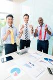 Éxito indio de la información del CEO en la reunión de negocios Imagenes de archivo