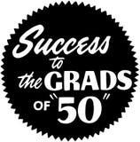 Éxito a los graduados de 50 stock de ilustración