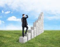 Éxito y concepto financiero del crecimiento Imagen de archivo