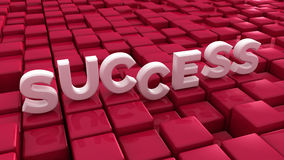 Éxito y cubos Fotos de archivo
