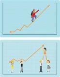 Éxito y trabajo en equipo libre illustration