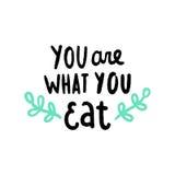 Êtes vous ce que vous mangez illustration stock