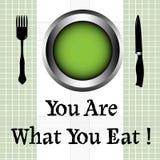 Êtes vous ce que vous mangez illustration libre de droits