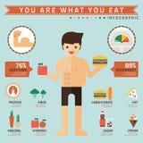 Êtes vous ce qui vous mangez infographic illustration libre de droits