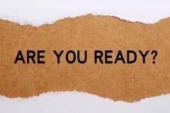 Êtes-vous prêt ? Image libre de droits
