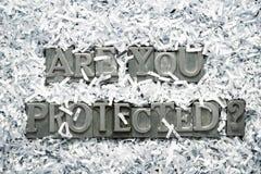 Êtes vous vous êtes protégé photographie stock