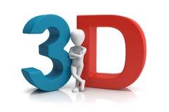être humain 3D. image 3d. Sur un fond blanc Image stock