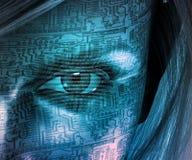 Être humain de technologie Image stock