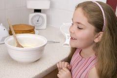 Être prêt au gâteau de glace Image stock