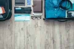 Être prêt pour un voyage photographie stock