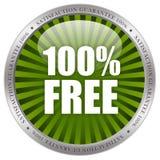 ícone 100 livre Imagem de Stock Royalty Free
