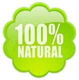 ícone 100 natural Fotografia de Stock Royalty Free