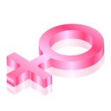 Ícone 3d fêmea Fotos de Stock