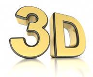 ícone 3D sobre o branco Fotografia de Stock Royalty Free