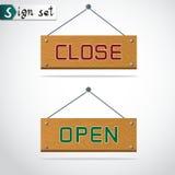 Ícone aberto e ilustração próxima do vetor Foto de Stock