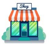 Ícone aberto vetor da loja ilustração stock