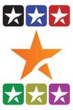 Ícone abstrato da estrela Imagens de Stock Royalty Free