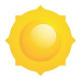Ícone abstrato de Sun do vetor isolado Ilustração Royalty Free