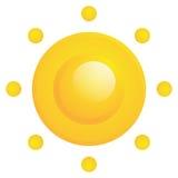 Ícone abstrato de Sun do vetor isolado Ilustração do Vetor
