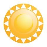 Ícone abstrato de Sun do vetor isolado Ilustração Stock