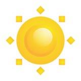 Ícone abstrato de Sun do vetor isolado no branco Ilustração do Vetor