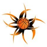 Ícone abstrato do basquetebol Imagem de Stock
