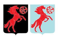 Ícone abstrato do cavalo Foto de Stock