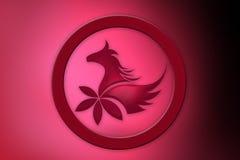 Ícone abstrato do cavalo Fotografia de Stock Royalty Free