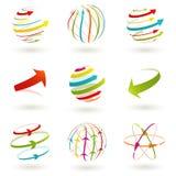 Ícone abstrato do globo. imagem de stock
