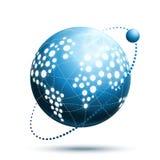 Ícone abstrato do mundo Fotos de Stock