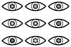 Ícone abstrato do olho Imagens de Stock