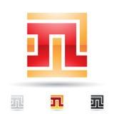 Ícone abstrato para a letra N Fotografia de Stock