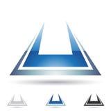 Ícone abstrato para a letra U Foto de Stock Royalty Free
